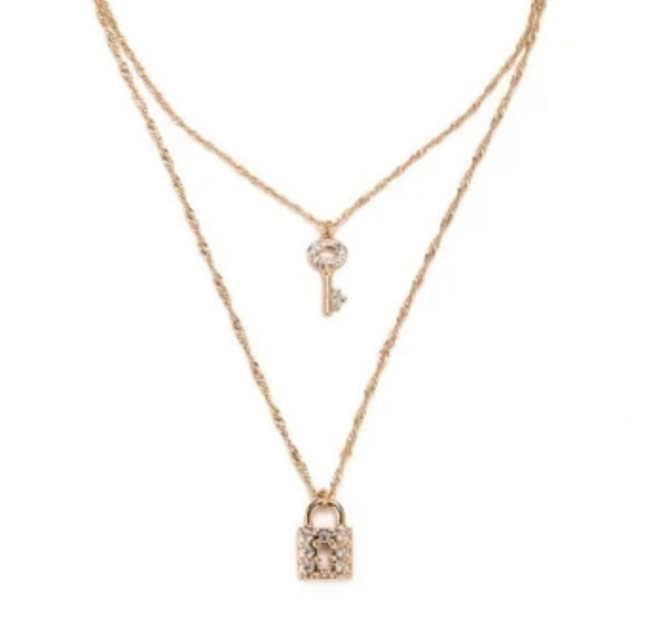 The Styled Collection Jewelry - The Styled Collection Lock and Key Necklace